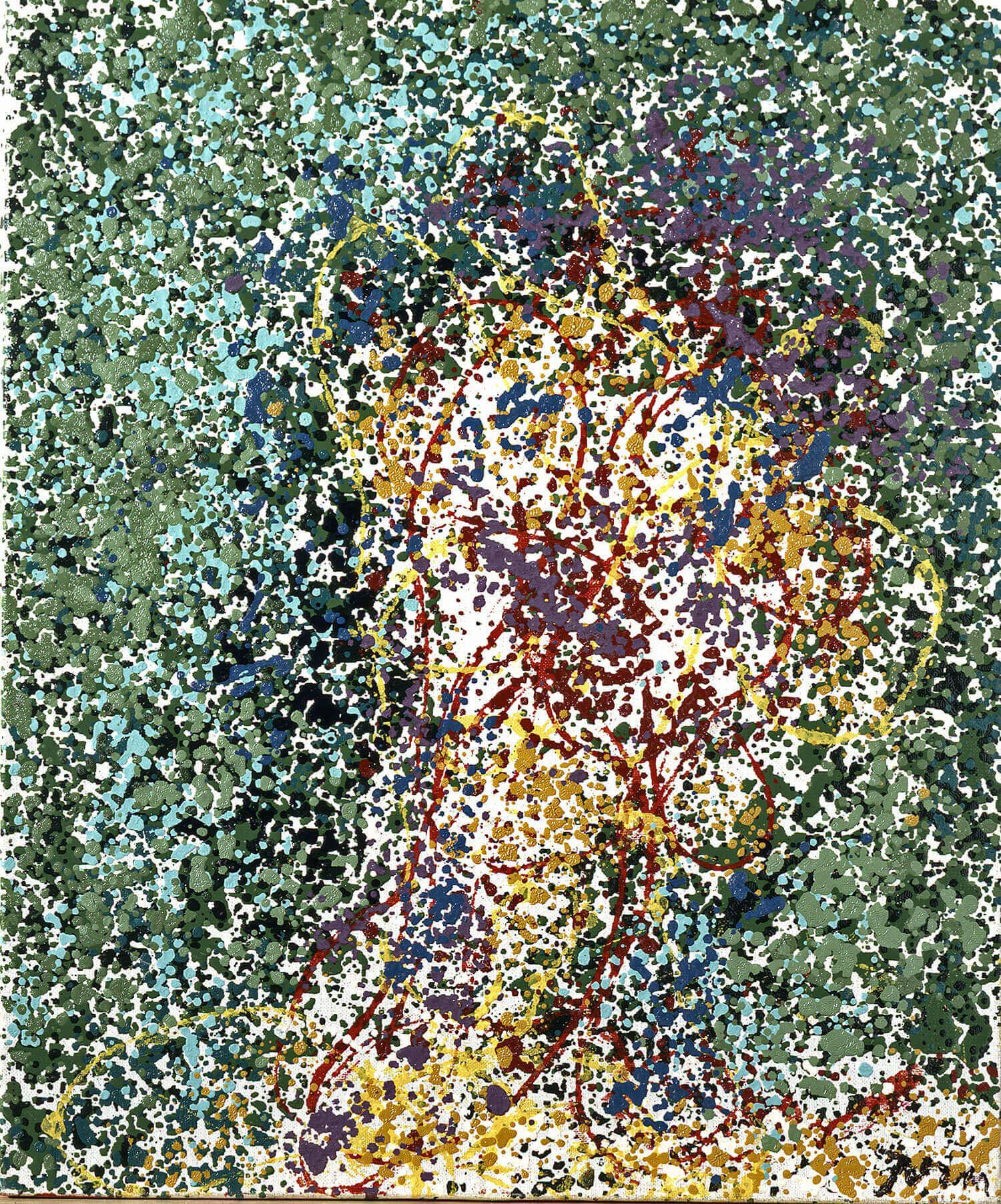 Asger Jorn:  UDEN TITEL, 1961  Lakfarve på lærred  65 x 54 cm