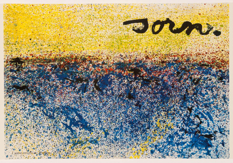 Asger Jorn:  UDEN TITEL, 1962 Farvelitografi 268 x 378 mm