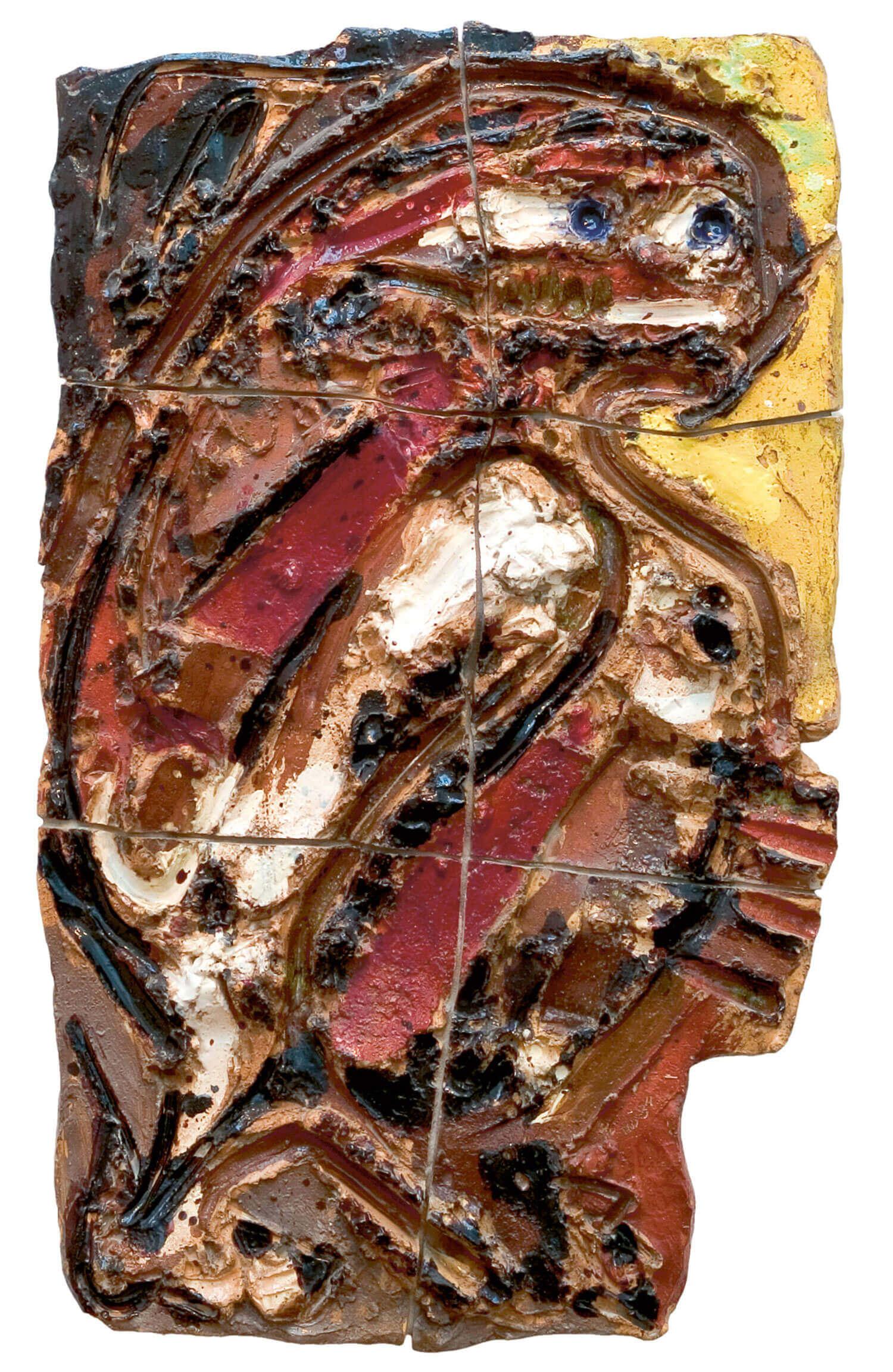Asger Jorn:  FLUGTEN, 1955 Keramik 130,3 x 78,5 cm