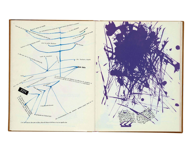 Guy Debord og Asger Jorn:  Opslag i bogen ERINDRINGER, 1959 Permild & Rosengreen, København