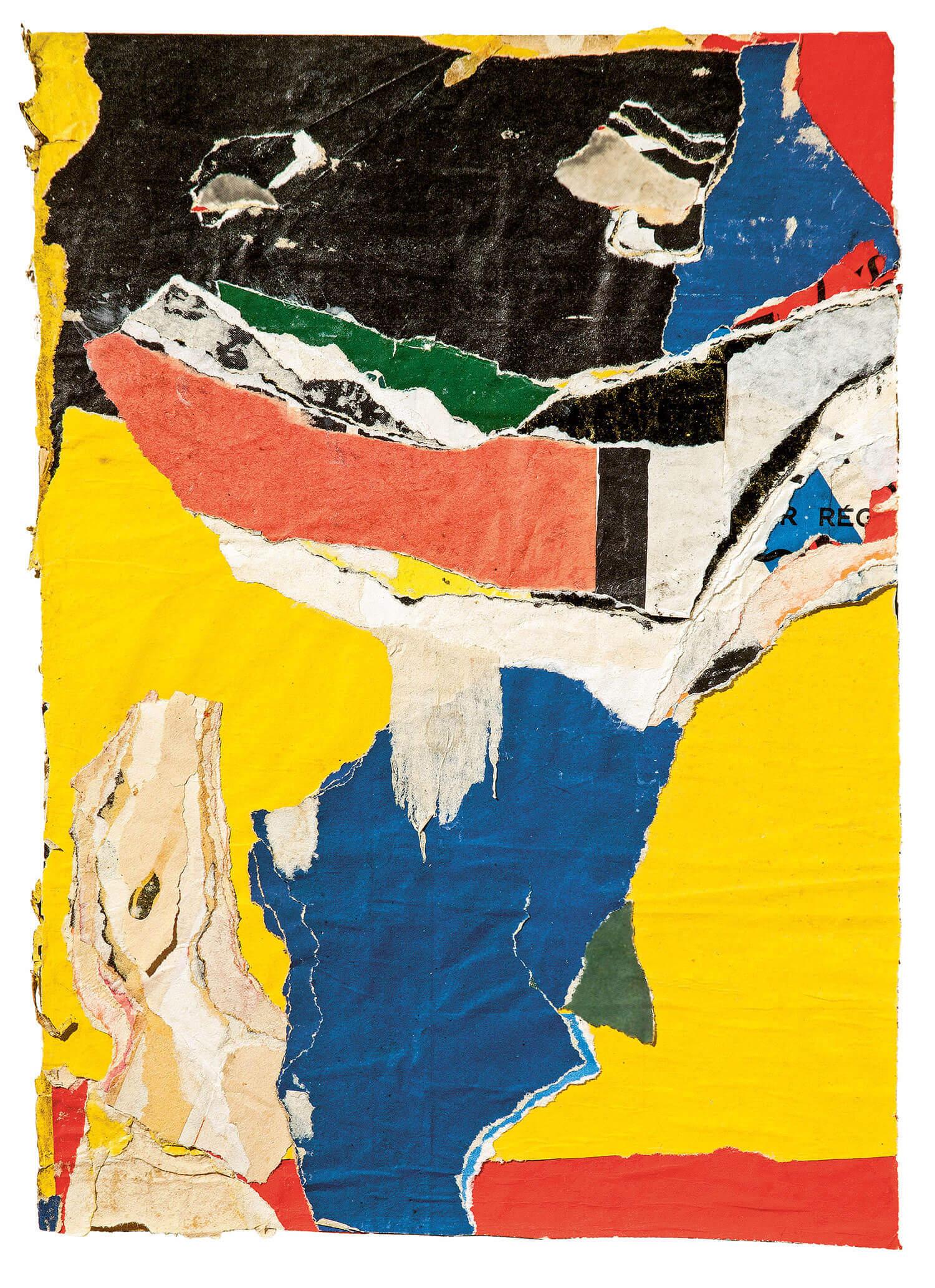 Asger Jorn:  UDEN TITEL, 1964 Décollage, 345 x 248 mm