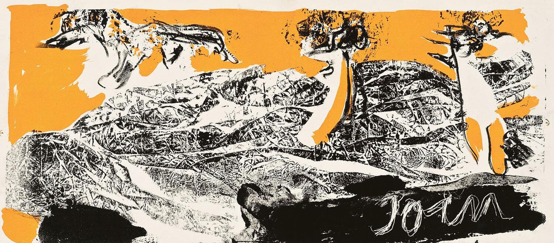 Asger Jorn:  UDEN TITEL, 1969 Farvelitografi 188 x 450 mm