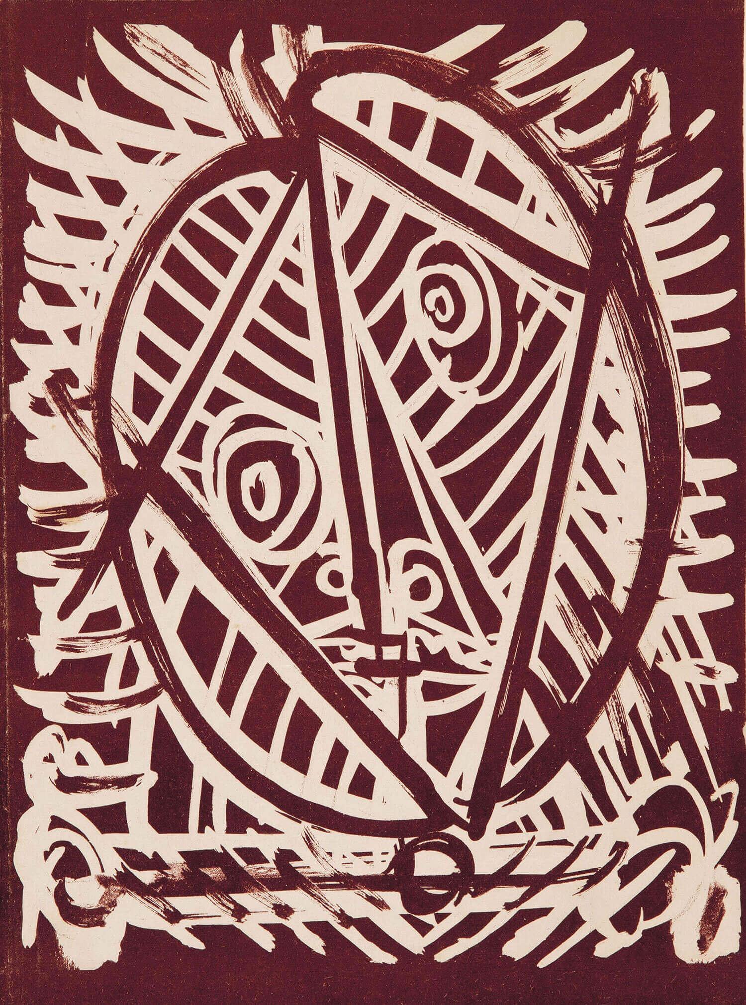 Asger Jorn:  UDEN TITEL, 1944 Litografi  240 x 165 mm